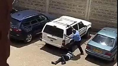 Outrage in Kenya as police officer caught on video brutalizing civilian