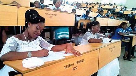 Nigerian brides abandon wedding reception to write final exams