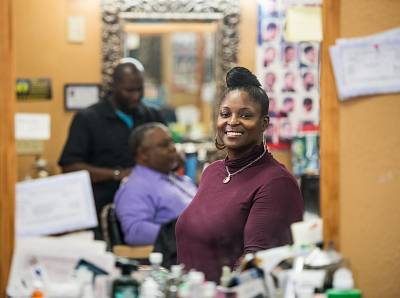 Monica Maxwell, 41, a social worker and the owner\'s wife, wants Elizabeth Warren to win.