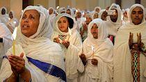 [Photos] Ethiopian Orthodox faithful observe Easter rites in Addis Ababa