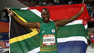 Bolt lauds South Africa's Simbine after 100m gold