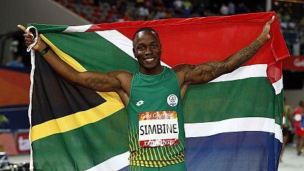 Bolt lauds South Africa's Simbine after 100m gold