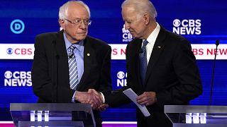 Image: Democratic 2020 U.S. presidential candidates Senator Bernie Sanders