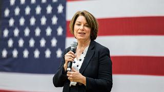 Image: Sen.Amy Klobuchar Holds A Town Hall In New Hampshire