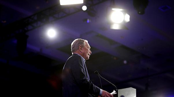Image: \Mike Bloomberg speaks at a Super Tuesday event in West Palm Beach,