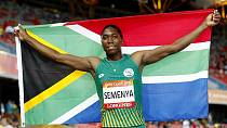 South Africa's Caster Semenya wins 1,500m gold, aims to add 800m gold