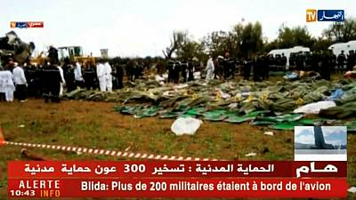 Death toll in Algerian military plane crash rises to 257 (state TV)