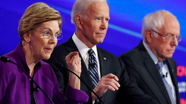 Image: Democratic 2020 presidential candidates Senator Elizabeth Warren spe