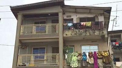 The 'double-faced building' in Lagos Nigeria – half plush, half blush