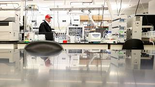 Image: President Donald Trump tours the Center for Disease Control after a