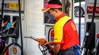 Image: A gas station in Bangkok