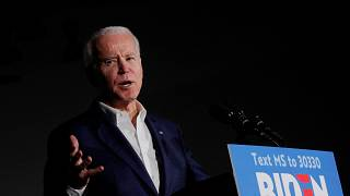 Image: Joe Biden  during a campaign stop at Tougaloo College in Tougaloo, M