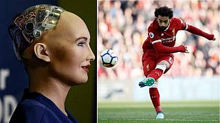 Sophia the robot praises Liverpool's Salah, wishes Egypt luck in World Cup