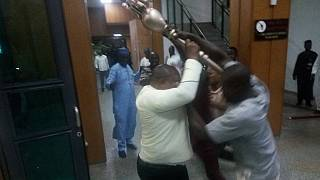 Thugs invade Nigeria Senate, fight security and steal symbol of authority