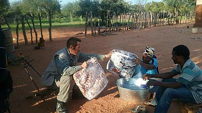 [Photos] Botswana's ex-president visits rural communities with gifts