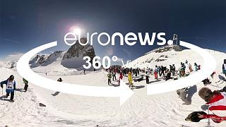 360º Skiing on the snowy mountain tops of La Grave