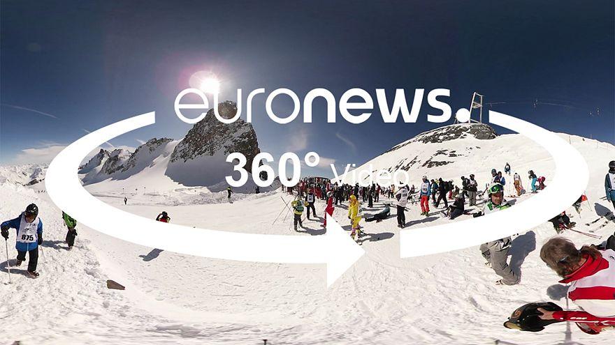 Zwischen schneebedeckten Gipfeln in La Grave