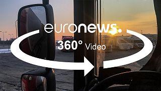 Roadmovie in 360 Grad - Fernfahrer in Europa
