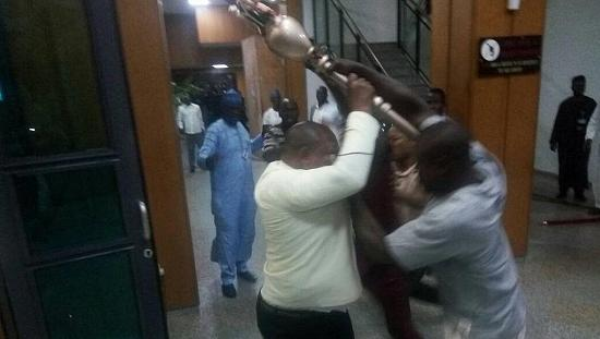 Thugs invade senate, steal symbol of authority [No Comment]