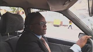 Female taxi driver wins admiration of residents in Kinshasa