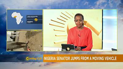 Nigeria: Senator jumps from a moving vehicle [The Morning Call]