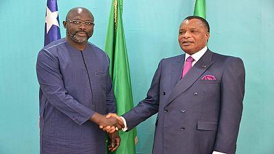 Congo : George Weah accueilli par Denis Sassou-Nguesso à Brazzaville