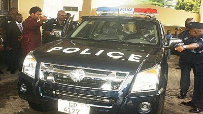 [Photos] La police ghanéenne reçoit des pick-ups fabriqués par un fils du pays