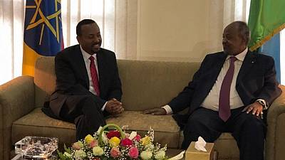Ethiopia PM Abiy Ahmed visits Djibouti on his first foreign trip