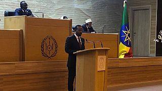 [Photos] Ethiopia PM addresses Djibouti parliament