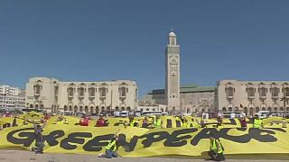 Morocco: Greenpeace action against fossil fuels