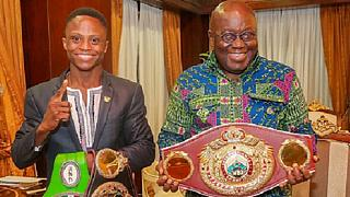 President leads congrats to Ghana's youngest boxing world champion