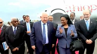 Israeli president praises Ethiopian Airlines on arrival for official visit