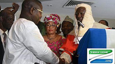Sierra Leone : investiture houleuse du président