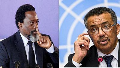 Ebola : Kabila en discussion avec le directeur général de l'OMS