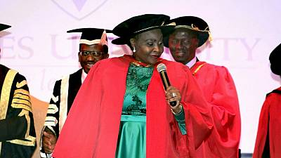 [Photos] African music icon Yvonne Chaka Chaka bags honorary degree