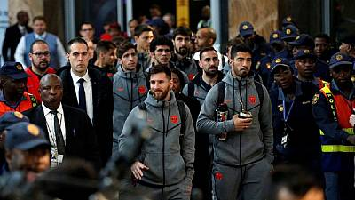 [Photos] Barcelona in South Africa for Mandela Cup friendly with Sundowns