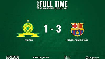 Barcelona wins Mandela Cup showdown thanks to careless Sundowns defending