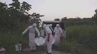 DRC Red cross buries victim of ebola to prevent spread of contagious viral disease