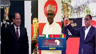 [Photos] Africa's World Cup presidents who hosted the golden trophy