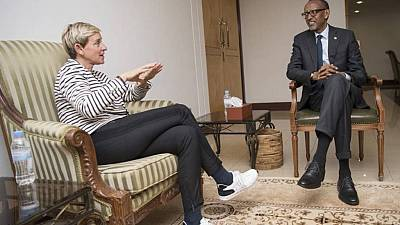 Kagame, Ellen DeGeneres discuss gorilla conservation in Rwanda