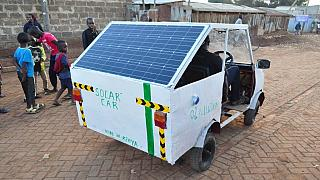 [Photos] Kenyan student develops solar-powered car