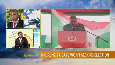 Burundi's Nkurunziza not to run for another term in 2020
