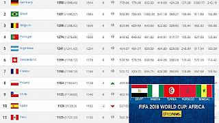 Nigeria, Tunisia drop in FIFA rankings ahead of World Cup