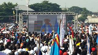 Congolese politician Katumbi holds peaceful rally in Kinshasa via video link