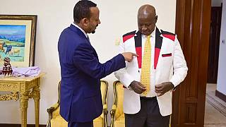 [Photos]: Museveni shows off gifts received from Ethiopia PM