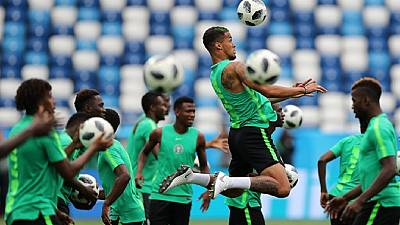 [Photos] Russia bans 'lucky' chickens as Nigeria's coach says team is 'physically and mentally ready'
