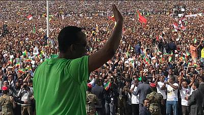 [Photos] Ethiopia's explosive 'In Abiy We Trust' rally