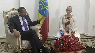 Sophia the robot meets Ethiopia PM, attends ICT expo