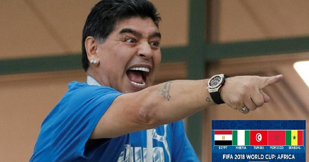 9cc977e38de Maradona says American referee won the game for England against Colombia