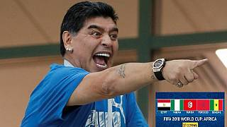 Maradona says American referee won the game for England against Colombia